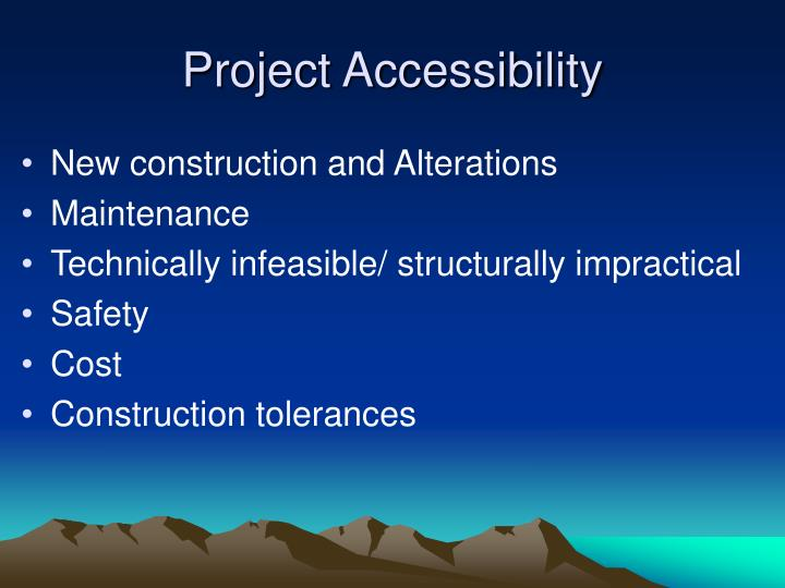 Project Accessibility