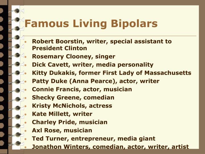 Famous Living Bipolars