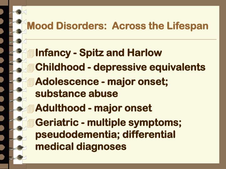 Mood Disorders:  Across the Lifespan