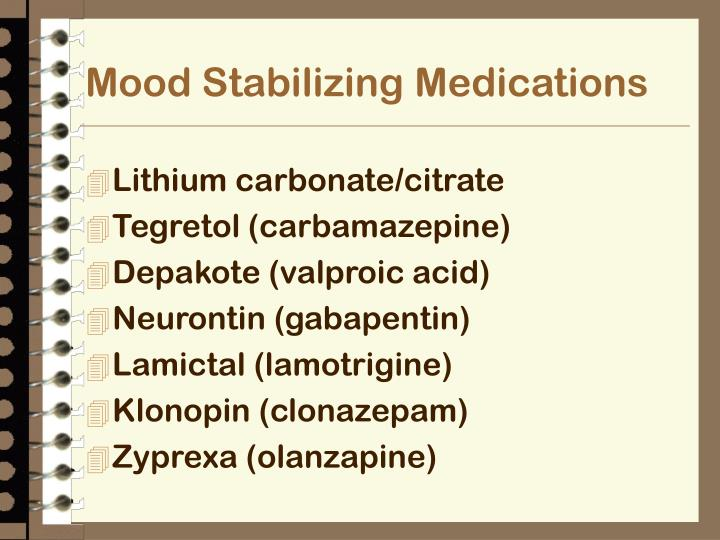 Mood Stabilizing Medications