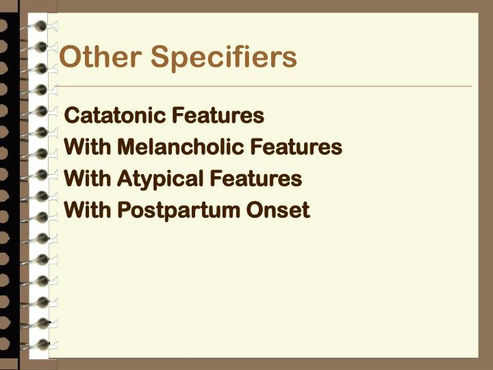 Other Specifiers