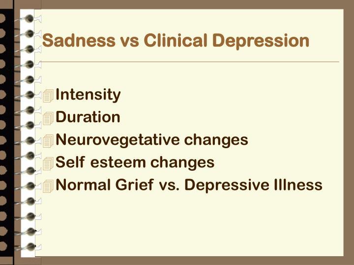 Sadness vs Clinical Depression