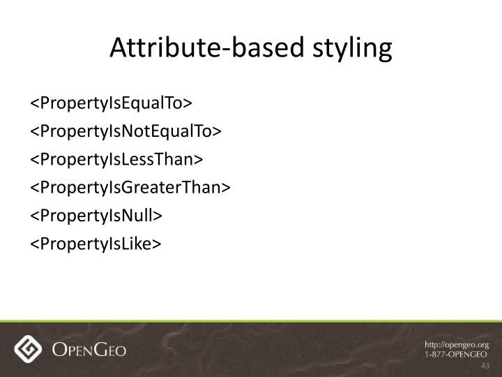 Attribute-based styling