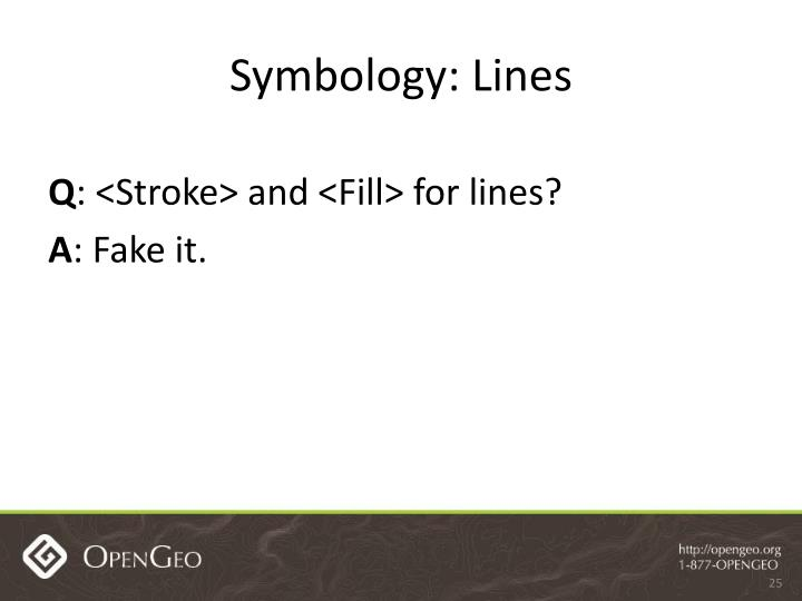 Symbology: Lines