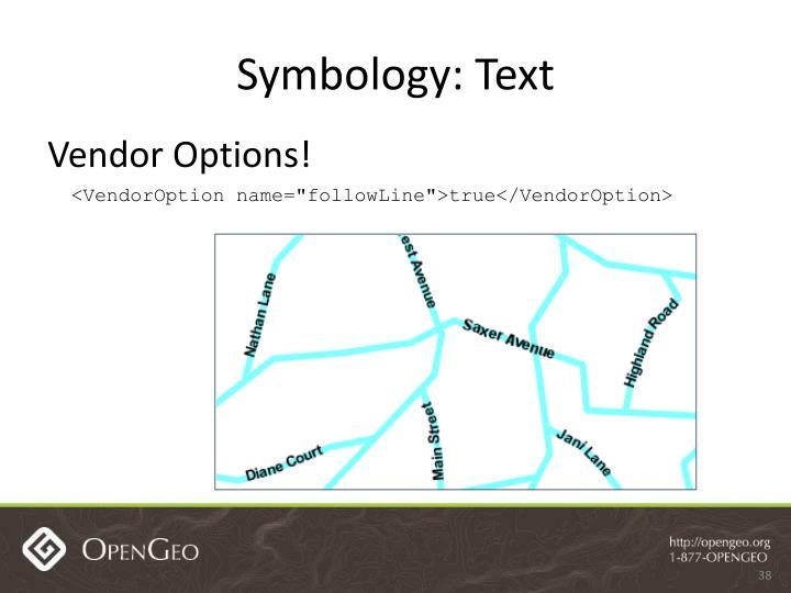 Symbology: Text