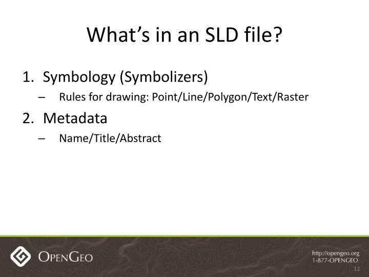 What's in an SLD file?