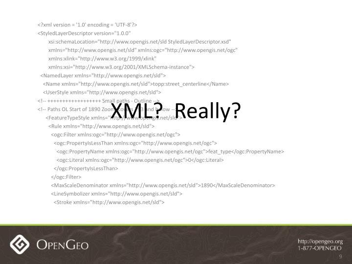 XML?  Really?