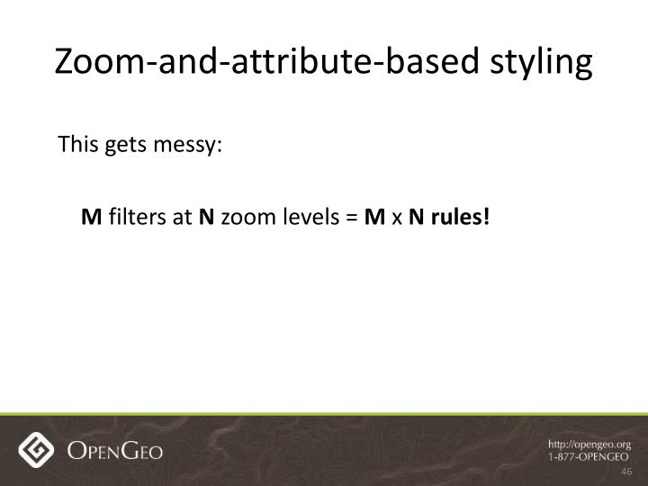 Zoom-and-attribute-based styling