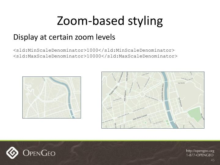 Zoom-based styling