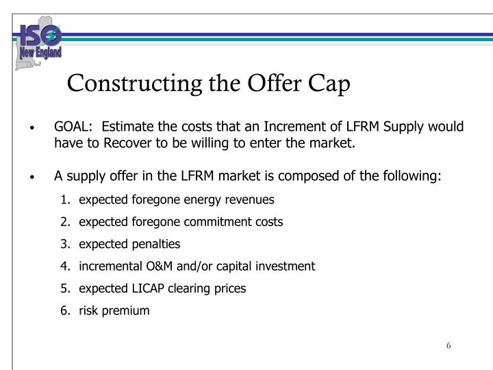 Constructing the Offer Cap