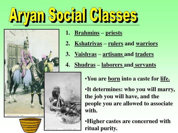 Aryan Social Classes