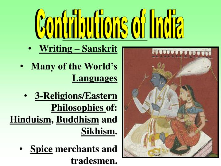 Contributions of India