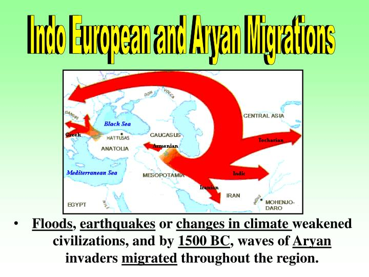 Indo European and Aryan Migrations