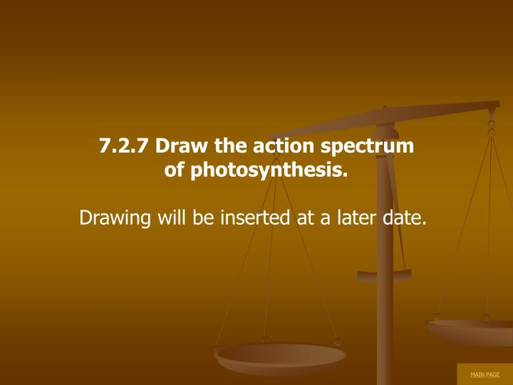 7.2.7 Draw the action spectrum