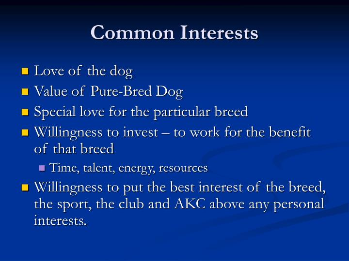 Common Interests