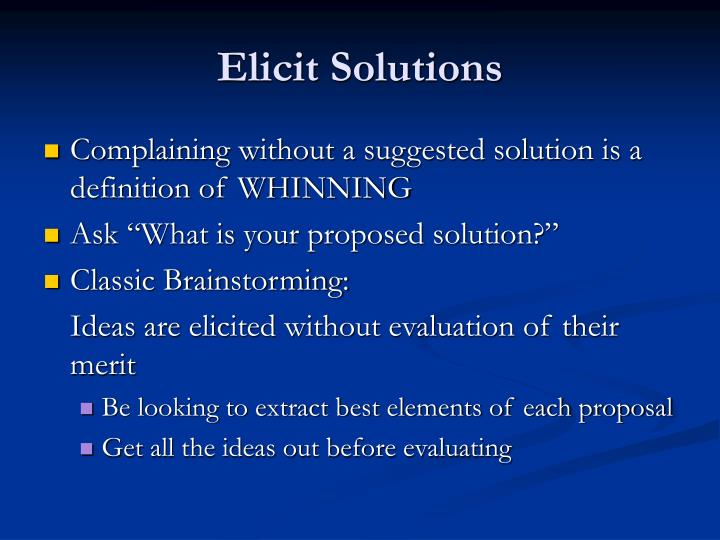 Elicit Solutions