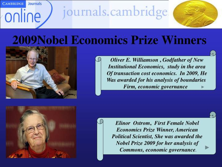 2009Nobel Economics Prize Winners
