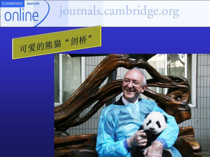 """可爱的熊猫""""剑桥"""""""