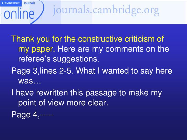 Thank you for the constructive criticism of my paper.
