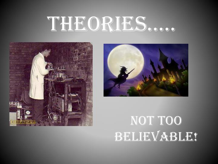 Theories…..