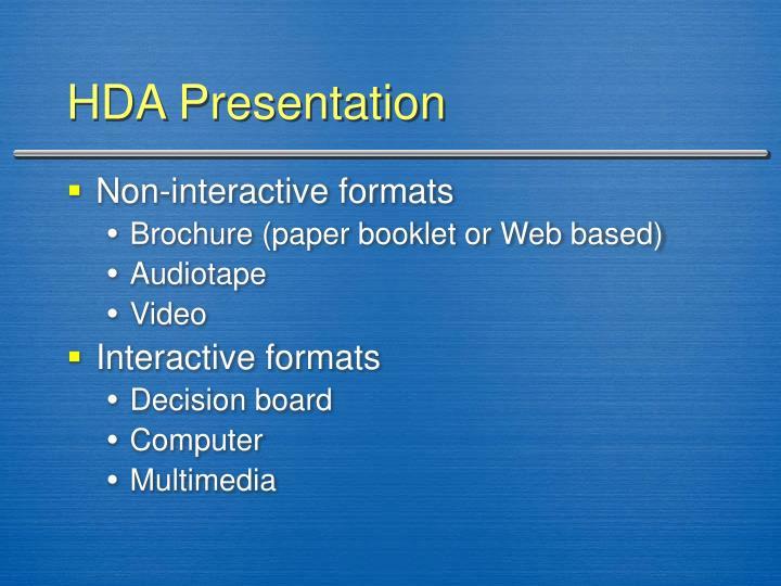 HDA Presentation
