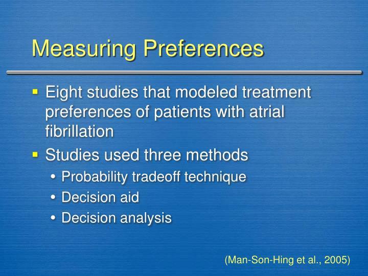 Measuring Preferences