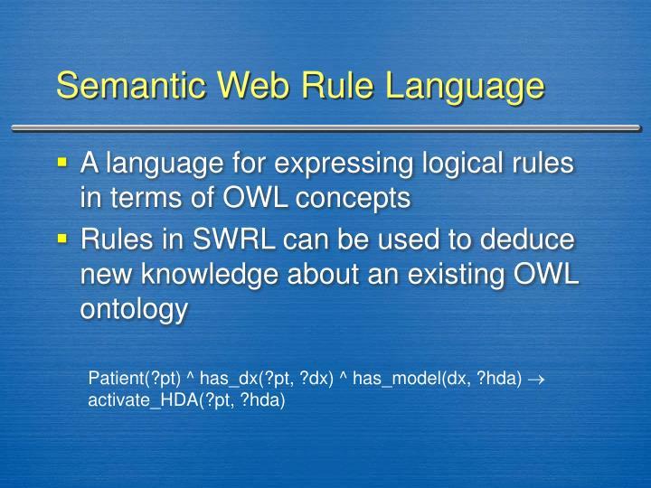 Semantic Web Rule Language