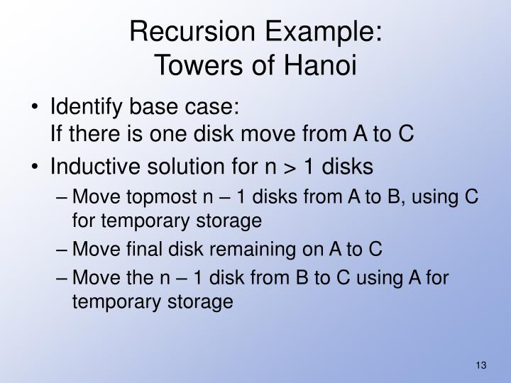 Recursion Example: