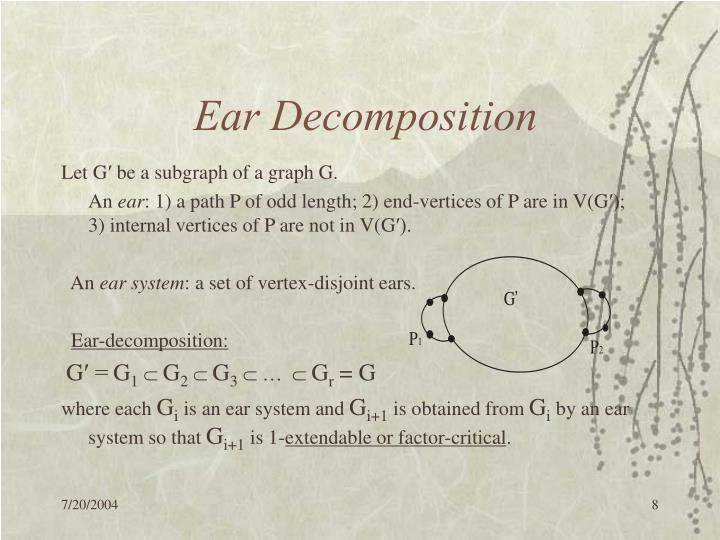 Ear Decomposition
