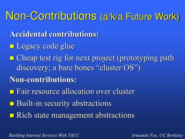 Non-Contributions