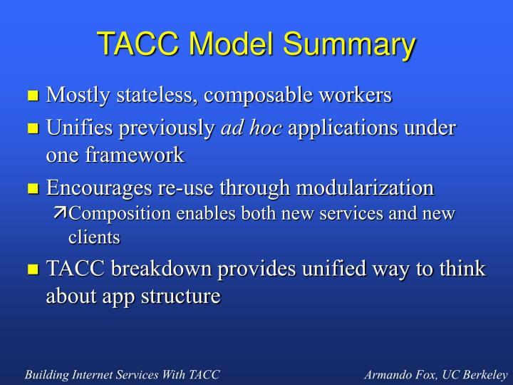 TACC Model Summary