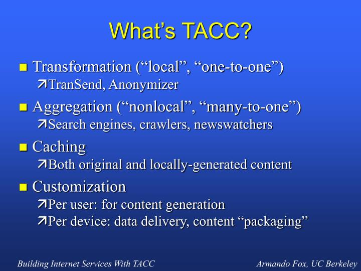 What's TACC?
