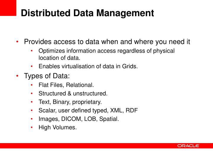 Distributed data management1