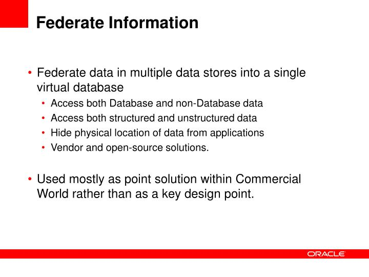 Federate Information