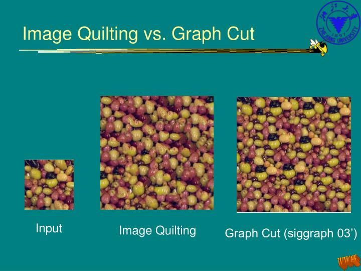 Image Quilting vs. Graph Cut