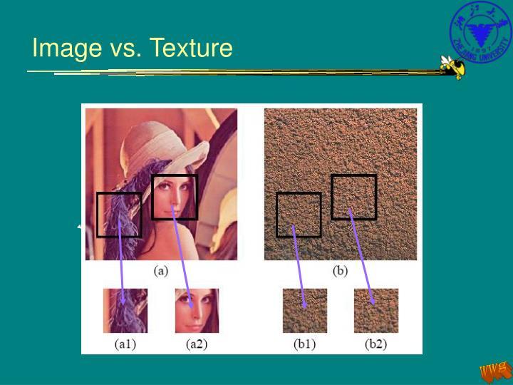 Image vs. Texture