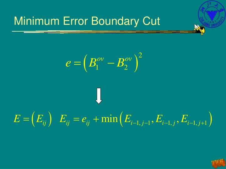 Minimum Error Boundary Cut