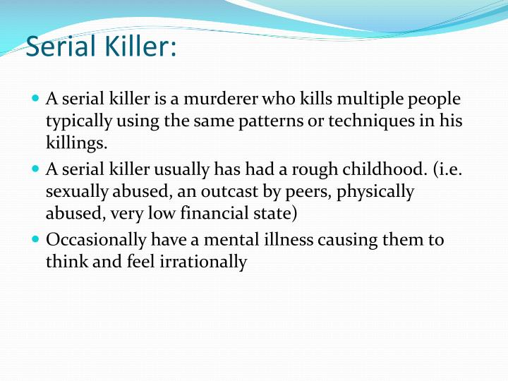 Serial Killer: