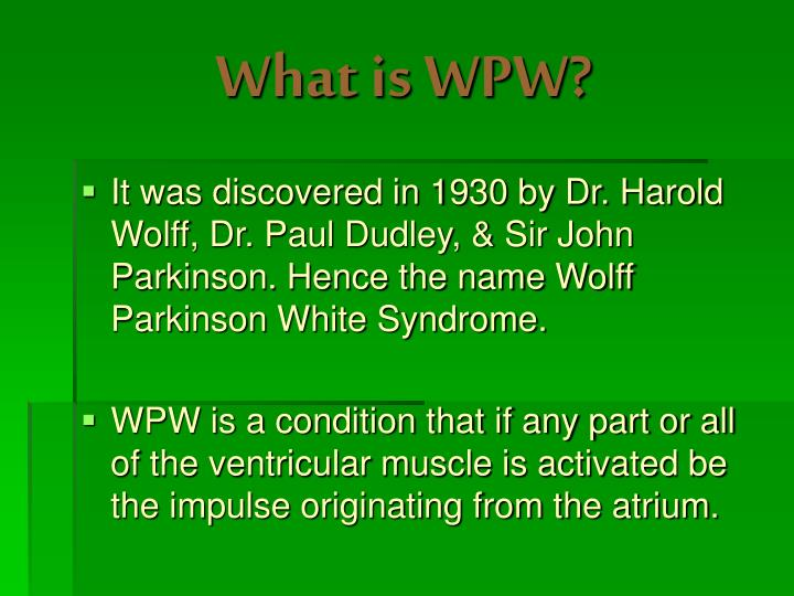 What is wpw