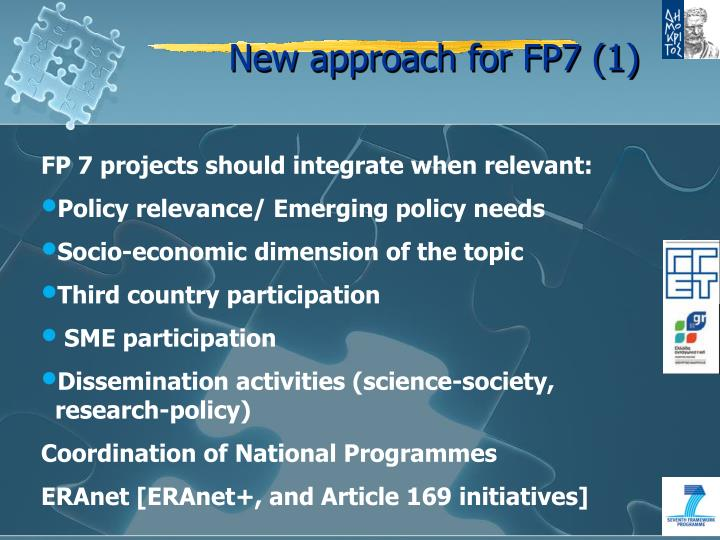 New approach for FP7 (1)