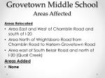 grovetown middle school areas affected