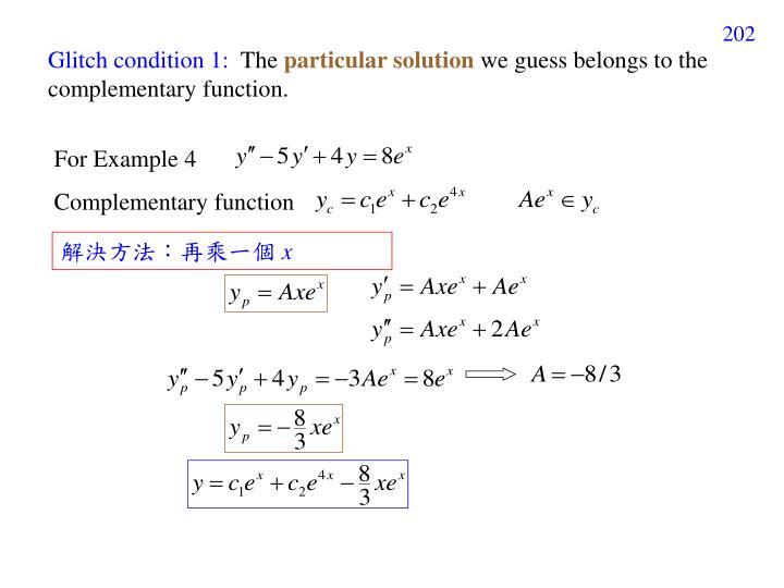 Glitch condition 1:
