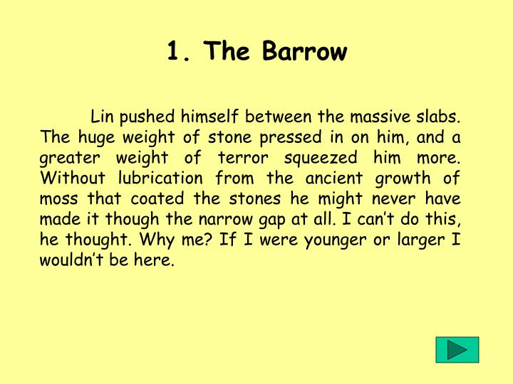 1. The Barrow
