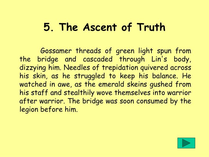 5. The Ascent of Truth