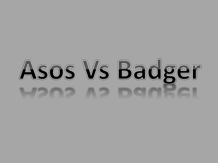 Asos Vs Badger