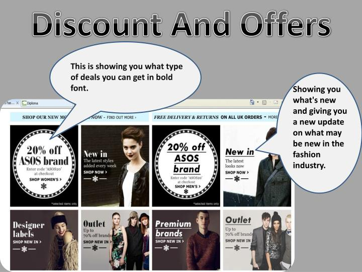 Discount And Offers
