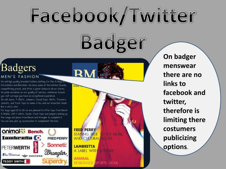 Facebook/Twitter Badger