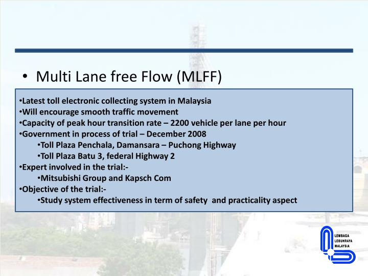 Multi Lane free Flow (MLFF)