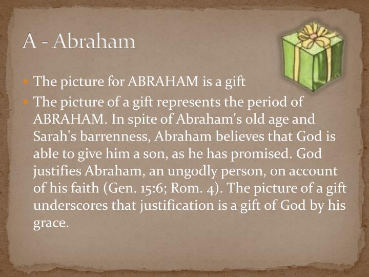 A - Abraham
