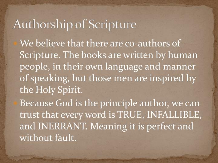 Authorship of Scripture